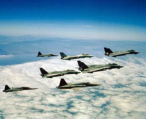English: A formation of F-14A Tomcats of Fight...