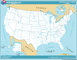 English: Map of the United States.