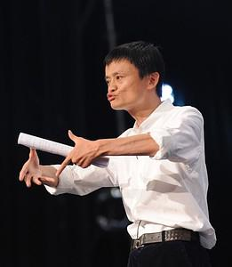 Jack Ma, head of Chinese Internet giant Alibab...