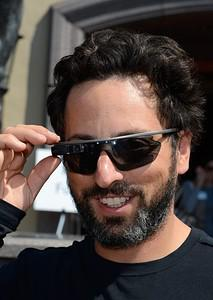 Google co-founder Sergey Brin in Google Glass