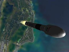 SpaceX Falcon 9 above KSC