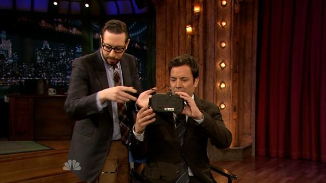 The Oculus Rift showed up on Jimmy Fallon's show, another sign of pending success.