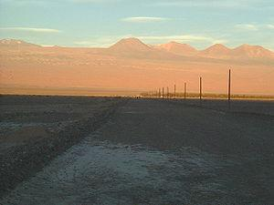 Another picture of Atacama desert with the sun...