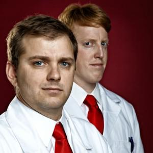 Ben Bowman (left) and David Mitchell (right) want to sell your blood. Credit: Darrell Eager