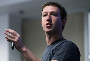 Facebook CEO Mark Zuckerberg at Facebook headquarters (Image credit: Getty Images via @daylife)