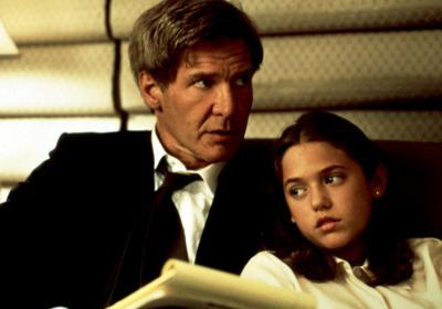 Liesel Matthews in Air Force One, with Harrison Ford Credit: Courtesy Everett Collection