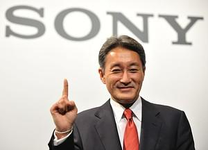 Sony president Kazuo Hirai poses during a phot...