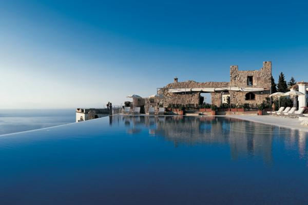 The infinity pool at Hotel Caruso. Photo: Courtesy of Hotel Caruso