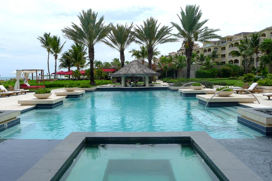 The pool at Grace Bay Club.