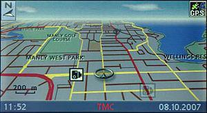 A GPS map showing speed camera POI information...
