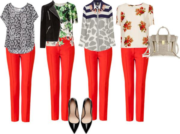 What Goes With Red workwear staple: red pants