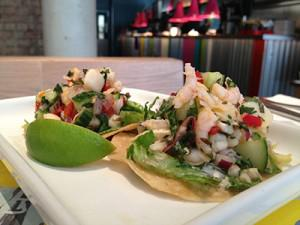 Ceviche tostadas, photo courtesy Wahaca