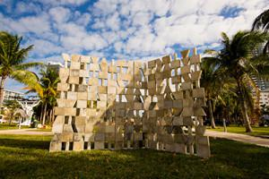 Mark Hagen, To be Titled (Additive Sculpture, Miami Screen), from Art Basel Miami Beach 2012, photo courtesy Art Basel