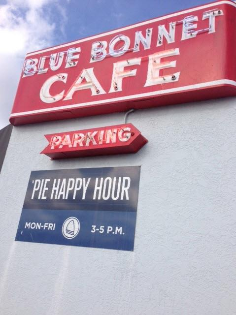 The Blue Bonnet Cafe in Marble Falls, Texas was established in 1929 and has a national reputation for its pies.