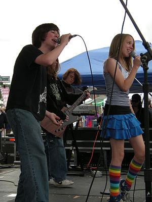 Students from the Paul Green School of Rock Mu...