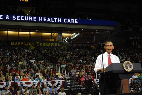 Obama at Healthcare rally at UMD
