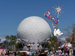 English: Exterior of Spaceship Earth at EPCOT ...