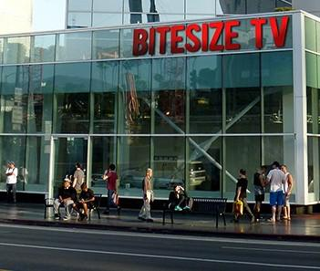 "Bitesize Networks new showcase studio on Hollywood's ""Walk of Fame"" signals a new era in which... [+] online video competes directly with traditional networks. (Photo Credit: BiteSize Entertainment)"