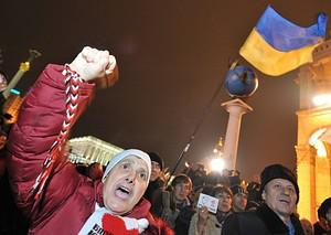 People take part in a rally in Kiev on Novembe...