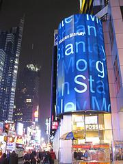Times Square Morgan Stanley Ad