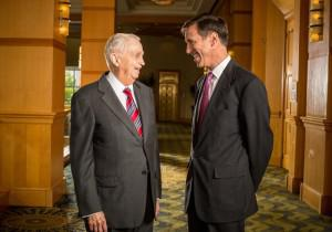 "Chairman John Willard ""Bill"" Marriott Jr. and CEO Arne Sorenson."