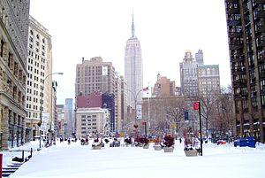 Madison Square after the blizzard of 26-27 Dec...
