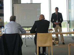 English: Business Plan Presentation at FSG 2009
