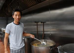 Jason Wang at the central kitchen of Xi'an Famous Foods in Brooklyn, New York