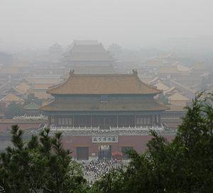 Smog over Beijing's Forbidden City