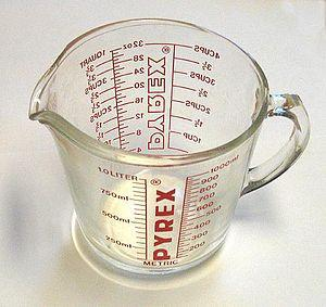 English: A measuring cup purchased in the Unit...