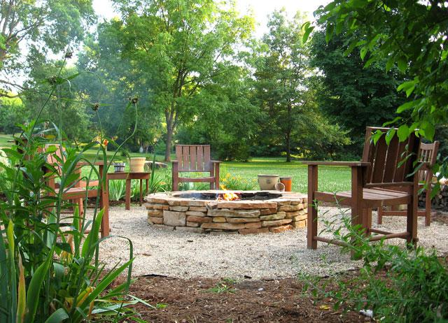 build a backyard fire pit for less than 500. Black Bedroom Furniture Sets. Home Design Ideas