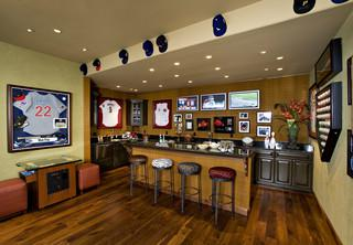 A Retired Professional Baseball Player Transformed The Two Bedroom Casita On Property Of His Arizona Vacation Home Into This Bar E For Storing