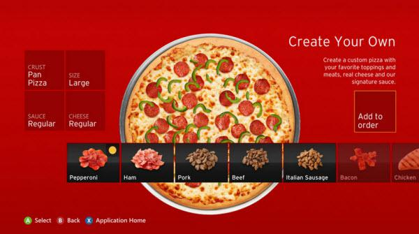 And So It Begins: Order Pizza Hut via Xbox Live