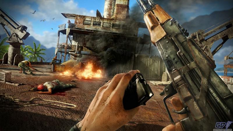 how to pick up gun in far cry 2