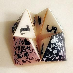 An elaborately decorated fortune teller.