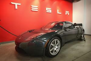 CHICAGO, IL - NOVEMBER 03:  A Tesla Roadster S...