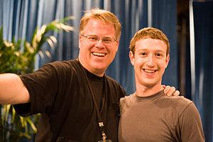 English: Robert Scoble (left) and Mark Zuckerb...