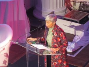 Eva Haller accepting the Award for Excellence in Mentoring (Photo: FORBES)