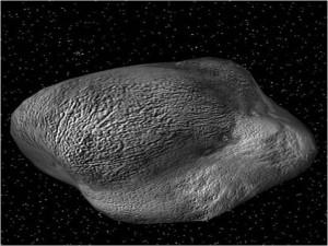 A small class M asteroid named 3554 Amun-NEA containing over 17 million tons of nickel, about $600... [+] billion in today's market. Similarly for cobalt and platinum group elements (click on the Chapter 9 link below). Courtesy of William Ambrose and Astronaut Jack Schmitt.