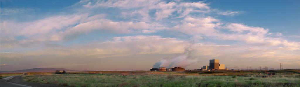 The Columbia Generating Station's nuclear power plant in Richland, Washington that, together with hydroelectric power, gives Washington State the lowest carbon, cleanest energy footprint in America, delivered with the lowest cost per kWhr of any state. Photo credit: Energy Northwest