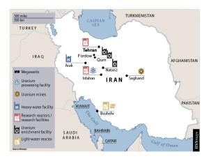 Key nuclear facilities in Iran, most of which are impacted by their latest deal with the six superpowers. After the International Institute of Strategic Studies (http://www.iiss.org/)