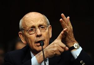 US Supreme Court Justice Stephen Breyer speaks...