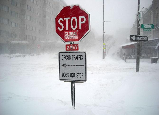 "English: A stop sign reading "" stop globa..."