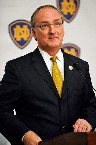 Notre Dame leaders like athletic director Jack Swarbrick understand that the University's success is... [+] tied directly to its commitment to remain remarkable in all that it does.