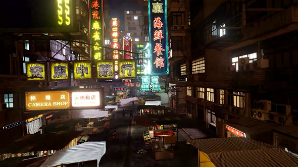 This screenshot of Sleeping Dogs was captured directly from a SHIELD playing via PC streaming
