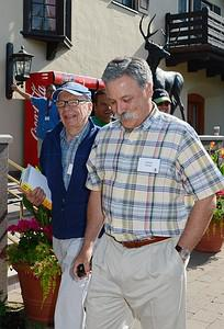 SUN VALLEY, ID - JULY 12: Rupert Murdoch (L), ...