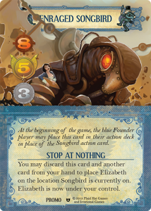 Promo card for pre-ordering via PlaidHat Games