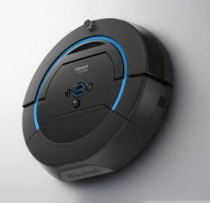 The new iRobot Scooba® 450 floor scrubbing robot sweeps and pre-soaks, scrubs and squeegees hard floors, washing away up to 99.3% of bacteria