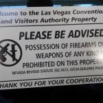 """No Guns"" Sign at the Las Vegas Convention Center"