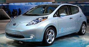 Nissan Leaf at the 2009 Tokyo Motor Show (LHD).